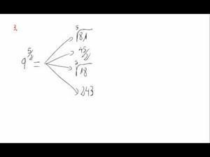 Potencias y exponente fraccionario - Cuestión 3