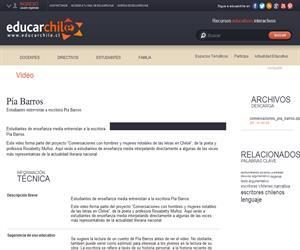 Pía Barros (Educarchile)