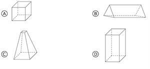 Pregunta liberada TIMSS-PIRLS de matemáticas sobre figuras geométricas. Problemas de formas y mediciones geométricas I.
