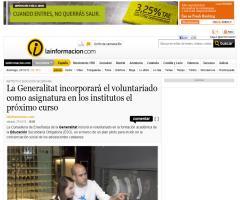 La Generalitat incorporará el voluntariado como asignatura en los institutos el próximo curso