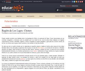 10ma Región Chonos (Educarchile)