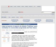 Publikoa, espacio de debate, participación pública y diálogo  (Euskadi)