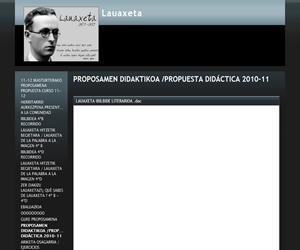 PROPOSAMEN DIDAKTIKOA /PROPUESTA DIDÁCTICA 2010-11 - Lauaxeta