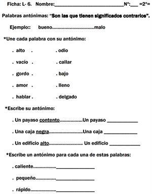 Ejercicios de refuerzo de Lengua española (Rincón del maestro)