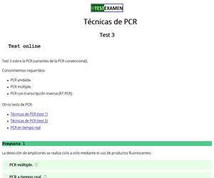 Test (3) sobre la PCR