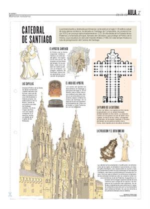 Catedral de Santiago. Láminas de El Mundo