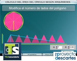 Cálculo del área del círculo de Arquímedes (EnclicloAbierta)