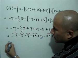 Tres ejemplos de polinomios aritméticos con signos de agrupación (JulioProfe)
