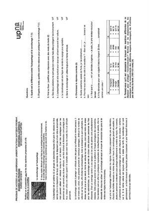 Examen de Selectividad: Francés. Navarra. Convocatoria Junio 2013