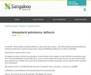Interpolació polinòmica: definició