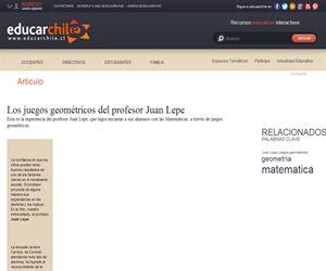 Los juegos geométricos del profesor Juan Lepe (Educarchile)