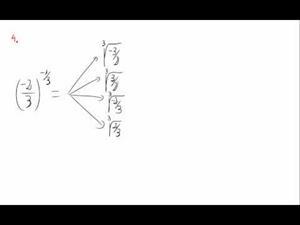 Potencias y exponente fraccionario y negativo - Cuestión 4