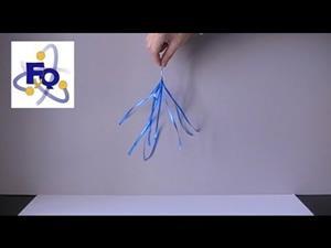 Electrostática azul. Experimento casero de Física (fq-experimentos)