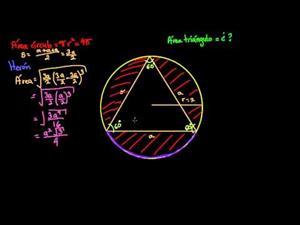 Área de un triángulo equilátero inscrito (Khan Academy Español)