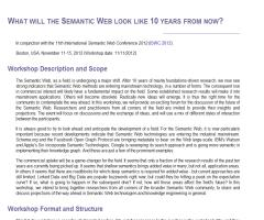 What will the Semantic Web look like 10 years from now? (ISWC 2012)