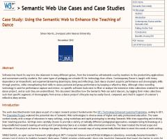 Case Study: Using the Semantic Web to Enhance the Teaching of Dance