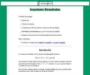 Tag > ecuación de cuarto grado - Didactalia: material educativo