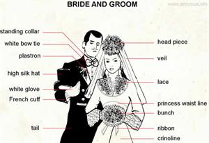 Bride and groom  (Visual Dictionary)