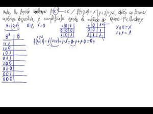 Simplificación de una función booleana