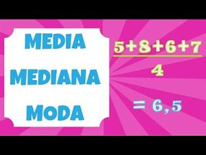 Media, mediana y moda