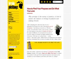 How to Find Your Purpose and Do What You Love | Brain Pickings