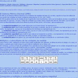 El Sistema Métrico Decimal (SMD). WinMates