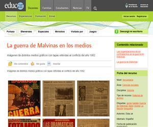 La guerra de Malvinas en los medios