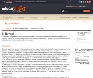 Ficha Huemul (Educarchile)