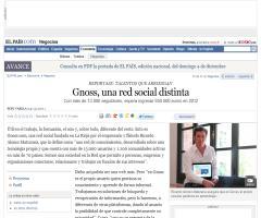 Gnoss, una red social distinta (Artículo de El País)