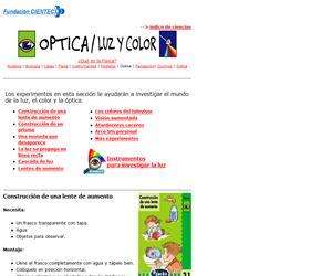 Experimentos de óptica para niños: luz y color