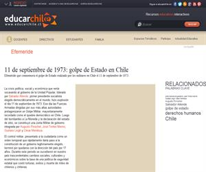 Efeméride golpe de Estado en Chile (Educarchile)