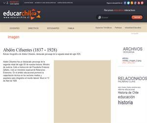 Abdón Cifuentes (1837 - 1928) (Educarchile)