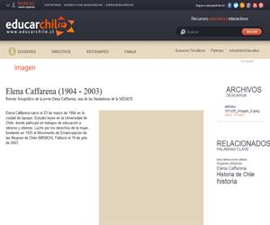 Elena Caffarena (1904 - 2003) (Educarchile)