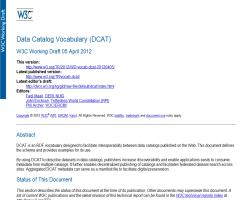 Data Catalog Vocabulary (DCAT)