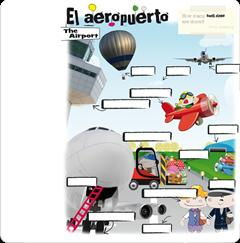 El aeropuerto - The airport. Arrastrar y soltar (Everest)