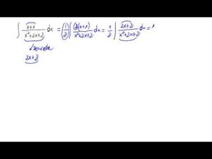 Integral de un cociente - tipo logaritmo