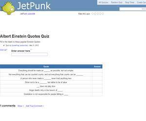 Albert Einstein Quotes Quiz