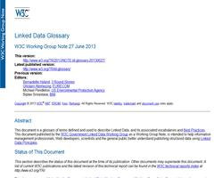 Linked Data Glossary