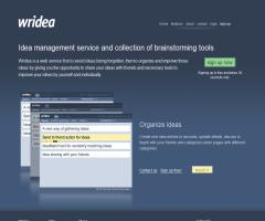 Wridea: Free Online Idea Management and Collaboration Service (Servicio de gestión de ideas y colaboración online)