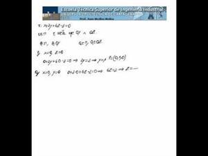 Ecuación de una recta que satisface varias condiciones
