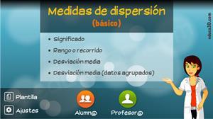 Estadística (medidas de dispersión) - Unidad interactiva