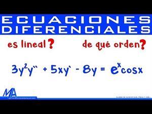 Orden y linealidad de las Ecuaciones Diferenciales