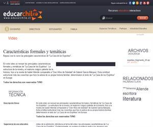 Características formales y temáticas (Educarchile)