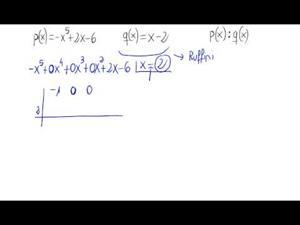 División de polinomios (Ruffini)