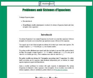 Problemes amb Sistemes d'Equacions