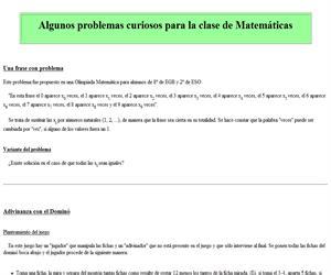 Algunos problemas curiosos para la clase de Matemáticas