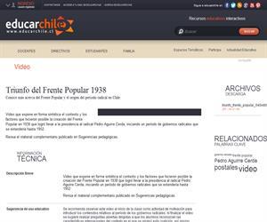Triunfo del Frente Popular 1938 (Educarchile)