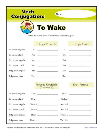 Verb Conjugations: To Wake