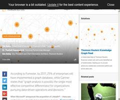 Thomson Reuters explica la importancia de construir un Grafo de Conocimiento