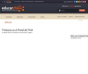 Violencia en el Portal del Web (Educarchile)